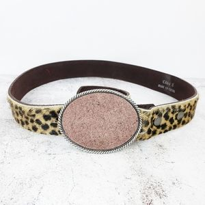 CAbi | Leopard Print Cow Fur Belt size S